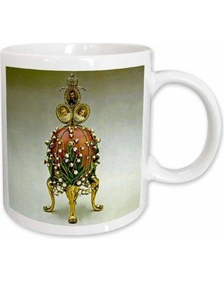Remarkable Deals On East Urban Home Picturing Fabergeâ Egg Lilies Of The Valley Coffee Mug Ceramic In Gray Size 3 75 H X 4 W X 3 D Wayfair