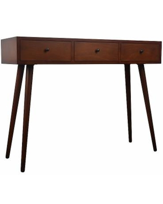Decor Therapy Mid-Century Modern Console Table, Brown