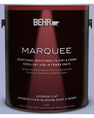 BEHR MARQUEE 1 gal. #S540-3 Meadow Phlox Flat Exterior Paint and Primer in One