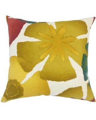 "Bay Isle Home Farish Pomegrenate Cotton Throw Pillow W001814311 Size: 20"" H x 20"" W x 5"" D"