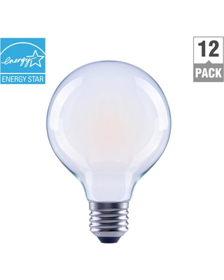 60 Watt Equivalent G25 Globe Dimmable Energy Star Frosted Gl Filament Vintage Style Led Light