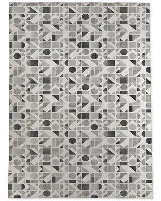 KAVKA DESIGNS Moderne-2X3 Moderne Charcoal Area Rug By Becky Bailey MWRUG-17-L Rug Size: Rectangle 3' x 5'