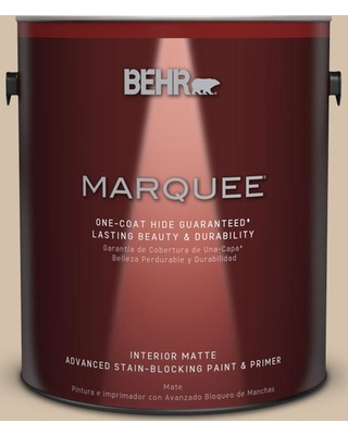 BEHR MARQUEE 1 gal. #PPU7-08 Baja One-Coat Hide Matte Interior Paint and Primer in One