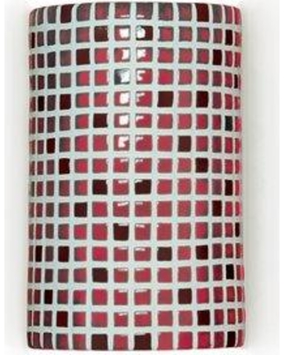 A19 Mosaic Confetti 1-Light Wall Sconce M20308 Finish: Matador Red Bulb Type: Incandescent Wet Location Compatible: Yes