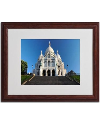 "Trademark Art ""Sacred Heart"" by Pierre Leclerc Framed Photographic Print PL0066- Size: 16"" H x 20"" W x 0.5"" D Frame: Brown - Beveled"