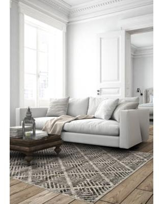 Weave & Wander Castle/Taupe Alessandria 2 ft 10 in x 7 ft 10 in Runner