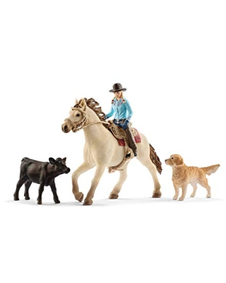 Schleich Farm World Western Riding 6-piece Educational Playset for Kids Ages 3-8