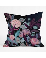 """18""""x18"""" Stephanie Corfee In The Mood Throw Pillow Black - Deny Designs, Black Blue Pink"""