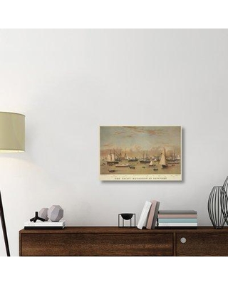 "East Urban Home 'The Yacht squadron at Newport 1872' Graphic Art Print on Wrapped Canvas ERNI9345 Size: 20"" H x 30"" W x 1.5"" D"