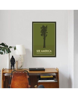 """East Urban Home 'General Sherman Sequoia National Park' Graphic Art Print on Canvas UBAH5028 Size: 26"""" H x 18"""" W x 1.5"""" D"""