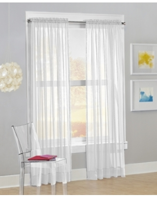 """No. 918 Calypso Voile Sheer Rod Pocket Curtain Panel, 63"""" L x 59"""" W"""