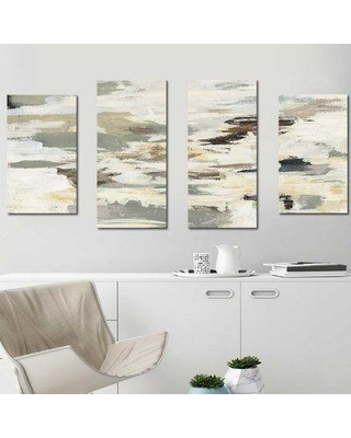 """Williston Forge 'Steps on Stones I' Acrylic Painting Print Multi-Piece Image on Canvas BF100431 Size: 38"""" H x 72"""" W x 1.5"""" D"""