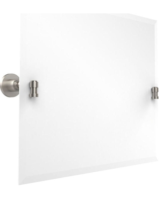 Allied Brass Waverly Place Collection 26 in. x 21 in. Rectangular Landscape Single Tilt Mirror with Beveled Edge in Satin Nickel