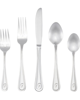 RiverRidge 46pc Personalized Flatware Set Marina Pattern - G, Silver