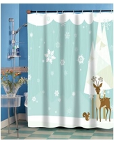 Ben and Jonah Forest Friends Shower Curtain FSCC-FF