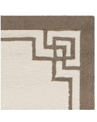 Darby Home Co Asher Hand-Hooked Beige/Brown Area Rug DRBC3458 Rug Size: Rectangle 5' x 8'