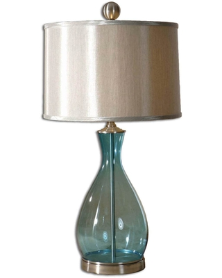 Uttermost Meena Blue Glass Table Lamp (Meena Blue Glass Table Lamp)