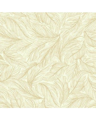 "York Wallcoverings Kashmir 27' x 27"" Wildlife Wallpaper BH83 Color: Off-white / Metallic Gold"