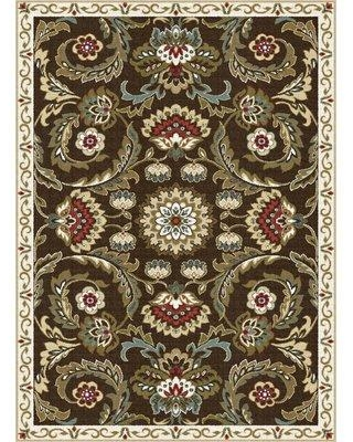 "Charlton Home Dolan Brown/Beige/Green Area Rug CHLH5835 Rug Size: Rectangle 7'6"" x 9'10"""