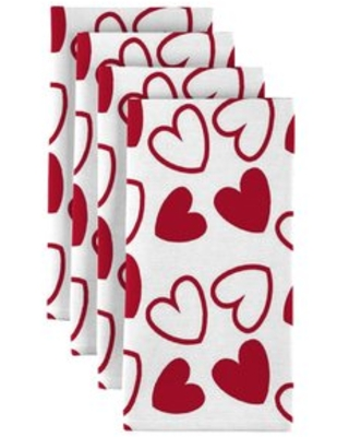 "Tossed Hearts 18"" Napkins Fabric Textile Products, Inc."