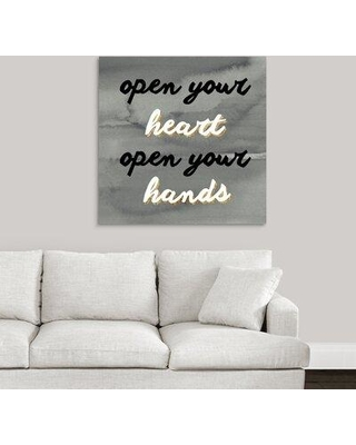 """Ebern Designs Giclee 'Quote II' Graphic Art Print X112719605 Format: Wrapped Canvas Size: 35"""" H x 35"""" W x 1.5"""" D"""