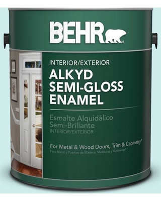 BEHR 1 gal. #510C-1 Ionic Sky Semi-Gloss Enamel Alkyd Interior/Exterior Paint