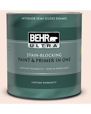 New Deal For Behr Ultra 1 Qt 220c 1 White Peach Extra Durable Semi Gloss Enamel Interior Paint Primer