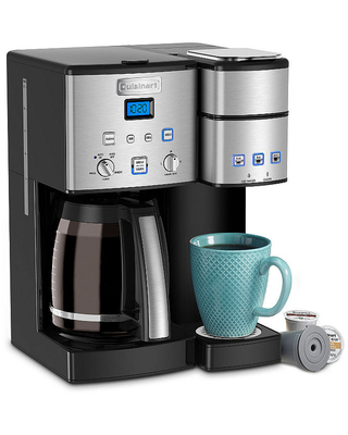 Cuisinart Coffee Cente 12 Cup Coffeemaker And Single-Serve Brewer, Silver