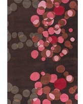 Brayden Studio® Osteen Abstract Hand-Tufted Wool Brown/Pink RugWool in White, Size 36.0 H x 24.0 W x 0.75 D in   Wayfair BRYS6547 34001554