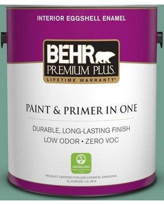 BEHR PREMIUM PLUS 1 gal. #M430-5 Regal View Eggshell Enamel Low Odor Interior Paint and Primer in One