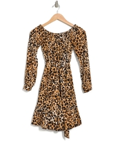 VELVET HEART Harting Off-the-Shoulder Dress, Size X-Small in Tan Leopard at Nordstrom Rack