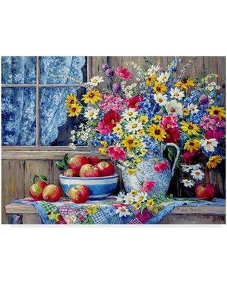 """Ophelia & Co. 'From a Country Garden' Acrylic Painting Print on Wrapped Canvas OPHL1965 Size: 14"""" H x 19"""" W x 2"""" D"""