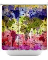 DiaNocheDesigns Whimsical World Map Shower Curtain SHO-AngelinaVickWhimsicalWorldMap Color: Pink/Green/Blue