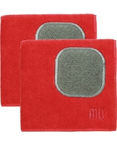 Microfiber Dishcloth With Scrubber (Set Of 2) - Mu Kitchen, New Red
