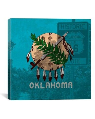 Find Big Savings On Winston Porter Flags Oklahoma Route 66 Graphic Art On Canvas Canvas Fabric In Brown Blue Size 26 H X 26 W X 0 75 D Wayfair