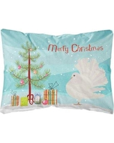 The Holiday Aisle Flournoy Fantail Pigeon Christmas Indoor/Outdoor Throw Pillow BF148657