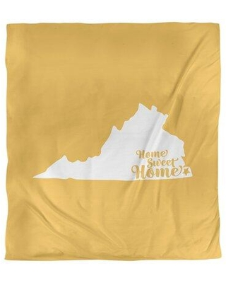 East Urban Home Home Sweet Virginia Beach Single Reversible Duvet Cover EBJK7826 Size: King Duvet Cover Color: Yellow Fabric: Brushed Polyester