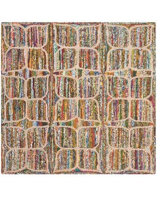 Bungalow Rose Anaheim Hand-Tufted Cotton Multi-Colored Area Rug BNRS6010 Rug Size: Square 4'