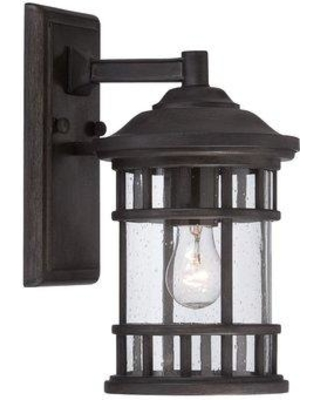 Darby Home Co Ferryhill 1-Light Outdoor Wall Lantern DBHM5963 Finish: Black Coral