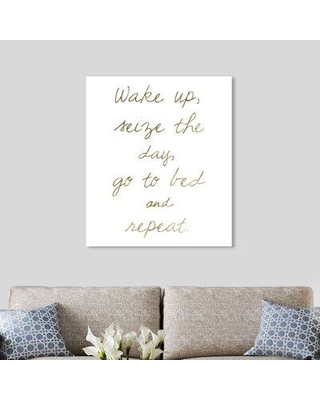 """Art Remedy Oliver Gal 'Seize the Day' Textual Art Print on Canvas 22886__CANV_XHD Size: 36"""" H x 30"""" W x 1.5"""" D"""