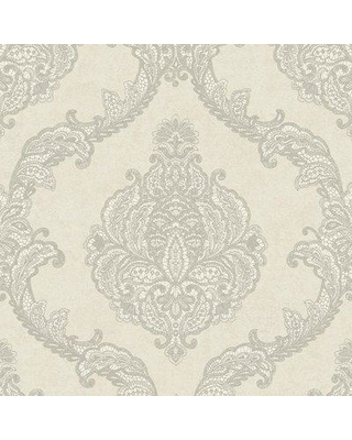 "York Wallcoverings Mixed Metals 32.8' x 20.9"" Trellis Roll Wallpaper WP-11 Color: Gray/Silver"