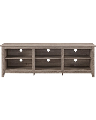 70 Wood Media TV Stand Storage Console - Driftwood (Brown) - Saracina Home
