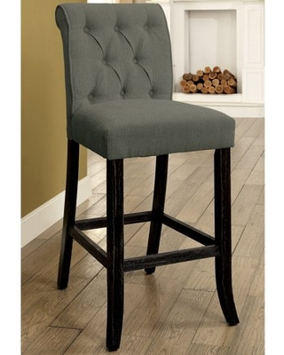 Furniture of America Verona Armless Counter Height Chairs - Set of 2, Gray