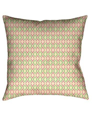 Huge Deal On Latitude Run Avicia Indoor Outdoor Throw Pillow Polyester Polyfill Polyester Polyester Blend In Pink Green Size 18 X 18 Wayfair