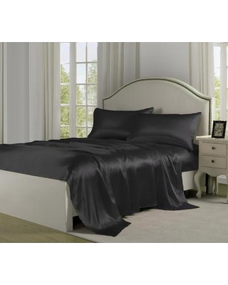 Fresh Ideas Satin Sheet Set CSN652SSBLAC0 Size: Full Color: Black