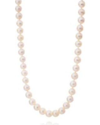 Belk & Co. Yellow Freshwater Pearl Necklace in 14k Yellow Gold