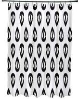 Mistana Bridgehampton Ikat Tears Geometric Print Shower Curtain MTNA2891 Color: Black