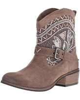 Naughty Monkey Women's Deco Stytch Boot, Taupe, 6 M US
