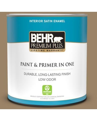 BEHR PREMIUM PLUS 1 qt. #PPU7-04 Collectible Satin Enamel Low Odor Interior Paint and Primer in One
