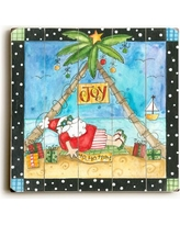 The Holiday Aisle Santa Getting Sun Graphic Art Plaque HLDY2691 Size: 18 H x 18 W